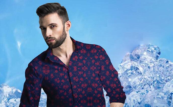 Glacier Fabric - Gini Silk Mills